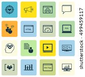 set of advertising icons on... | Shutterstock .eps vector #499459117