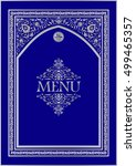 halal menu template for design. ... | Shutterstock .eps vector #499465357