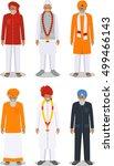set of different standing... | Shutterstock .eps vector #499466143