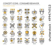 consumer behavior   thin line... | Shutterstock .eps vector #499474513