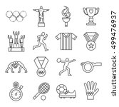 isolated olympic games icon set ... | Shutterstock .eps vector #499476937