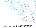 structure molecule and... | Shutterstock .eps vector #499477783