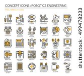 robotics engineering   thin... | Shutterstock .eps vector #499478233