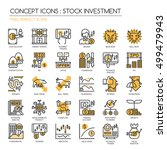 stock investment   thin line... | Shutterstock .eps vector #499479943