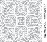 cutout paper ornament  lace... | Shutterstock .eps vector #499482127