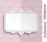 vector flourish frame with... | Shutterstock .eps vector #499482133