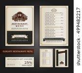vector restaurant menu design ... | Shutterstock .eps vector #499482217