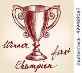award cup trophy hand drawn... | Shutterstock .eps vector #499489267