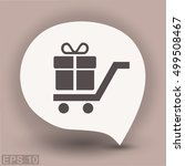 pictograph of gift | Shutterstock .eps vector #499508467
