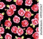rose flower pattern  | Shutterstock .eps vector #499513567