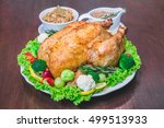 roasted turkey stuffing... | Shutterstock . vector #499513933