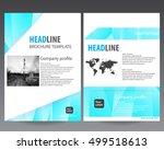 modern elegance annual report... | Shutterstock .eps vector #499518613