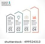 vector linear arrows... | Shutterstock .eps vector #499524313