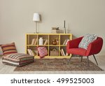 modern interior room with nice... | Shutterstock . vector #499525003