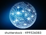 modern digital ball data network | Shutterstock . vector #499526083