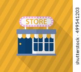 store icon  vector flat long... | Shutterstock .eps vector #499541203