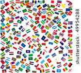 collection of world flags on... | Shutterstock . vector #49954288