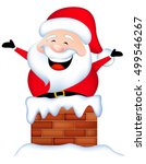 funny santa stuck in chimney  ... | Shutterstock .eps vector #499546267
