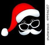 Santa Face With Mustache...