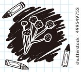 mushroom doodle | Shutterstock .eps vector #499549753