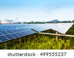 photovoltaic modules reflect... | Shutterstock . vector #499555237