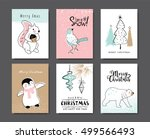 Set Of Christmas Cards With...