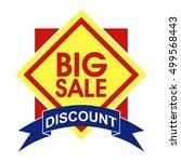 sale badge  discount banner | Shutterstock .eps vector #499568443