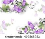 delicate flowers background | Shutterstock .eps vector #499568953