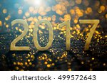 2017 happy new year background... | Shutterstock . vector #499572643