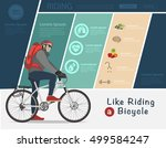 biker riding on bicycle  bike... | Shutterstock .eps vector #499584247