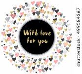 light circle frame with hearts...   Shutterstock .eps vector #499584367