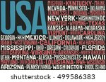 poster of united states of... | Shutterstock .eps vector #499586383