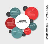 vector company infographic... | Shutterstock .eps vector #499587223