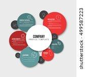 vector company infographic... | Shutterstock .eps vector #499587223