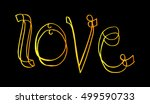 love. vector quote. hand... | Shutterstock .eps vector #499590733