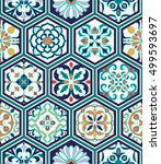 vector seamless texture.... | Shutterstock .eps vector #499593697