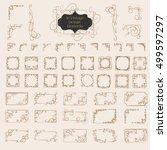 big set of art deco frame ... | Shutterstock .eps vector #499597297