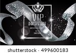 vip invitation card with... | Shutterstock .eps vector #499600183