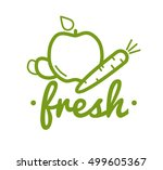 organic product   guaranteed... | Shutterstock .eps vector #499605367