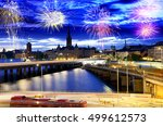 fireworks celebration over... | Shutterstock . vector #499612573