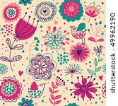 cartoon summer floral seamless... | Shutterstock .eps vector #49962190