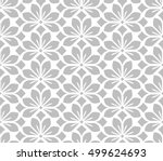 seamless abstract floral... | Shutterstock .eps vector #499624693