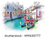venice   calle fondamenta megio....   Shutterstock . vector #499630777