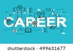 word career  line flat vector... | Shutterstock .eps vector #499631677
