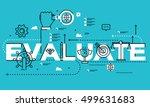 word evaluate  line flat vector ... | Shutterstock .eps vector #499631683