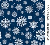 snowflakes seamless pattern.... | Shutterstock .eps vector #499637773