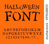 Halloween Font. Curves Of...