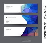 vector abstract banners set... | Shutterstock .eps vector #499650667