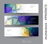 vector abstract banners set... | Shutterstock .eps vector #499650673
