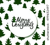 merry christmas. handdrawn... | Shutterstock .eps vector #499652497